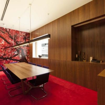 Excellence in the use of Timber Products - Office Fitout Featuring Decorative Sliced Veneers